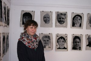 Sandra McAllister organised the culmination of the project in a beautifully curated exhibition in Open circle House
